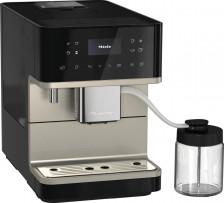 Kávovar MIELE CM 6360 MilkPerfection Obsidian černá CleanSteelMetallic