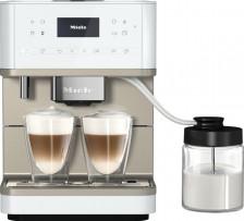 Kávovar MIELE CM 6360 MilkPerfection Lotosově bílá CleanSteelMetallic